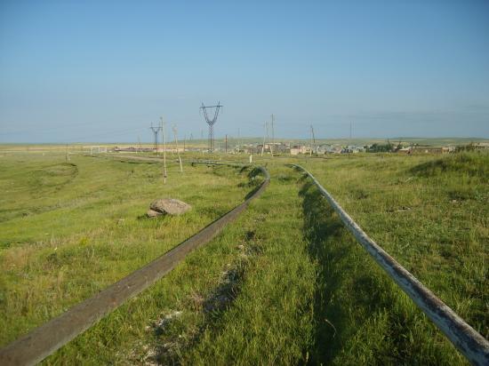 L'eau et le gaz à travers champs